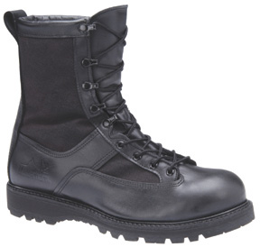 "8"" Non-Insulated Waterproof Leather/Cordura Combat Boot with Non-Metallic Safety Toe FOD Outsole US Coast Guard ""Super Boot"""